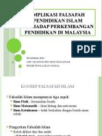 Implikasi falsafah pendidikan islam terhadap perkembangan pendidikan di