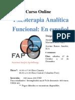 Curso on-line Psicoterapia Analítica Funcional