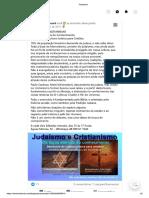PROGRAMA JUDAISMO E CRISTIANISMO SEMINARIO