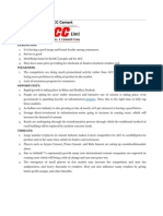 SWOT Analysis for ACC Cement