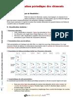 Cours Lycée pilote - Sciences physiques - Classification Périodique des éléments chimiques - 2ème Toutes Sections (2013-2014) Mr Abdelhamid Galaï