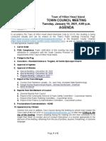 HHI Town Council agenda