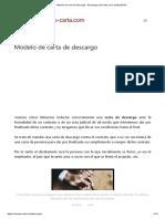 Modelo de carta de descargo - Descargos laborales y por multa (2019)