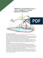 RESFRIAMENTO EVAPORATIVO + INÉRCIA TÉRMICA PARA RESFRIAMENTO