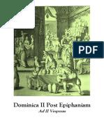 II Domingo Después de Epifanía. Vísperas gregorianas