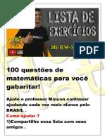100 questões de matemática - volume 1.pdf