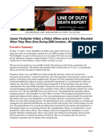 NIOSH LODD Report on Fatal May 2019 Shooting of Wis. Firefighter
