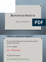 Reported Speech - Introduction