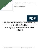 PLANO DE ATENDIMENTO A EMERGÊNCIAS e NBR 14276
