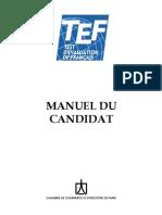 Manuel du candidat