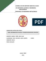 DEFORMACION PLASTICA Y RECRISTALIZACION DE UN METAL