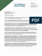Gov. Mike DeWine's Letter to President-Elect Joe Biden