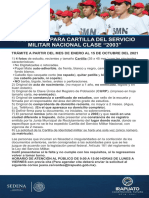 Requisitos cartilla militar Guanajuato 2021