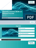 Opcenter Connect MOM 33 Release Preview1