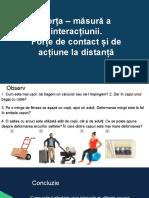 Forța – măsură a interacțiunii. Forțe de contact și de acțiune la distanță.pptx