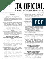 Gaceta Oficial N°. 42.050 con fecha del 19 de enero de 2021