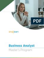 Business Analyst Master's Program_Simplilearn_v3