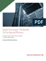 2018 Bain - Digital Procurement The Benefits Go Far Beyond Efficiency