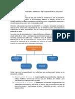 Cuáles son los procesos para determinar el presupuesto de un proyecto
