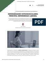 ▷ Enfermedades Osteomusculares en el trabajo ¿Cómo evitarlas_