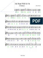 My Heart Will Go On - partitura
