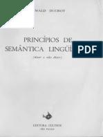 DUCROT, Oswald. Princípios de semântica linguística