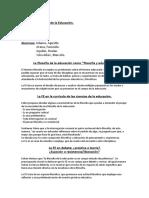 FILOSOFIA DE LA ED CLASE 1