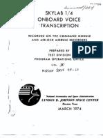 Skylab 1/4 Onboard Voice Transcription Vol 4 of 6