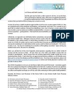 PAC COVID Vaccine Letter