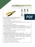 Fichas de seguridad Herramientas manuales