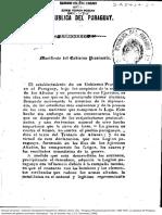 Rca. del Paraguay.Manifiesto Del Gobierno Provisorio 16 de setiembre de 1869