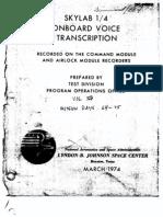 Skylab 1/4 Onboard Voice Transcription Vol 5 of 6