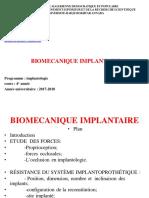 2018 BIOMECANIQUE IMPLANTAIRE I ETUDE DES FORCES