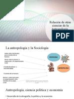 Relación de otras ciencias de la Antropología