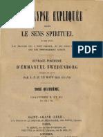 Em Swedenborg L'APOCALYPSE EXPLIQUEE TomeQuatrieme Chapitres X Et XI Numeros 592 704 LeBoysDesGuays 1857