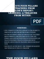 UNESCO'S FOUR PILLARS OF TEACHING From delor's report