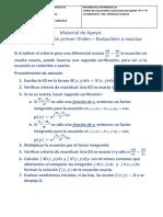 Material de apoyo - Solución de ED de primer Orden Reducibles a Ecuaciones Exactas