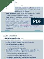 10. Adverbio, preposición, conjunción