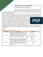 FUNCIONES BIOLÓGICAS DE LOS 20 AMINOÁCIDOS