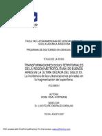 TRANSFORMACIONES SOCIO-TERRITORIALESDE LA REGIÓN METROPOLITANA DE BUENOSAIRES EN LA ÚLTIMA DÉCADA DEL SIGLO XX