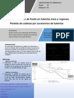 II FASE-Fricción de fluido en tuberías lisas y rugosas; Perdida de cabezal por accesorios de tuberías pptx (1)