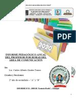 INFORME PEDAGÓGICO ANUAL DEL PROFESOR POR HORAS - LETRAS 2020