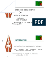 BoZ Quarterly Brief -  Media Brief (Q4 2010)