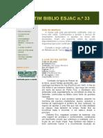 Boletim BIBLIO ESJAC, n.º 33