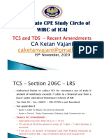PPT-CA Ketan Vajani -TCS and TDS - Recent Amendments -19.11.2020