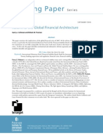 Reform of the Global Financial Architecture