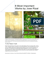 WORKS OF JOSE RIZAL