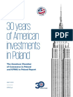KPMG and AmCham report ''30 years of American investments in Poland''