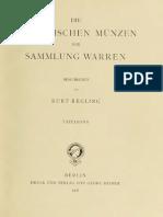 Die griechischen Münzen der Sammlung Warren. Tafelband / beschr. von Kurt Regling