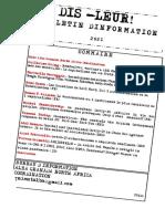 Bulletin d' Information 2021-  Dis-leur !  -Guerre de classe et propagande de guerre dans un capitalisme en crise